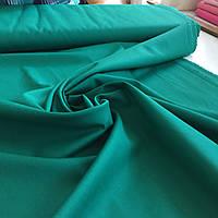 Саржа смесовая для униформы темно-зеленая, ширина 150 см, фото 1