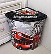 "Корзина для белья угловая ""London"" 53 л  Elif Plastik, Турция, фото 5"
