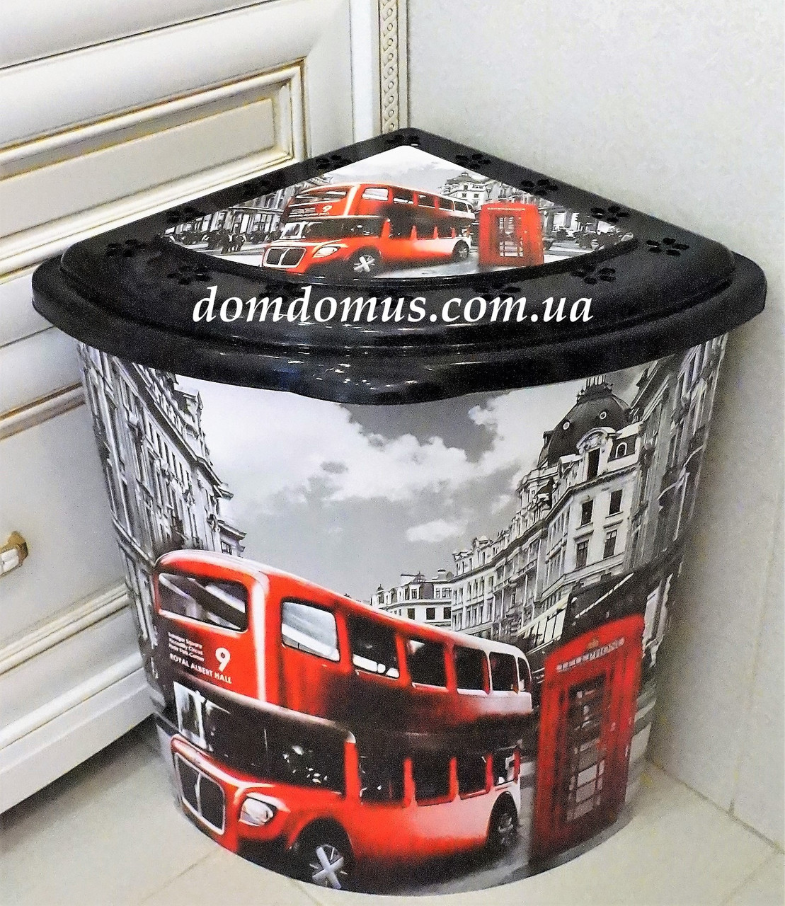 "Корзина для белья угловая ""London"" 53 л  Elif Plastik, Турция"