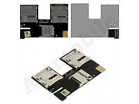 Коннектор SIM-карты для мобильного телефона HTC Desire 500 Dual Sim , на две SIM-карты, с коннектором карты па