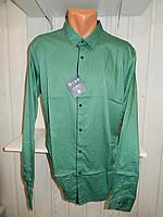 Рубашка мужская  Enisse длинный рукав, батал, стрейч, мелкий узор, заклепки 001 \ купить рубашку