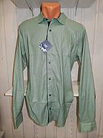 Рубашка мужская  Enisse длинный рукав, батал, стрейч, мелкий узор, заклепки 005 \ купить рубашку