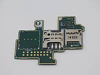 Разъем Sim-карты и карты памяти для Sony C1904 Xperia M/C1905, на шлейфе