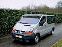 """Козырек лобового стекла """"Белый"""" для Renault Trafic, Рено Трафик"""