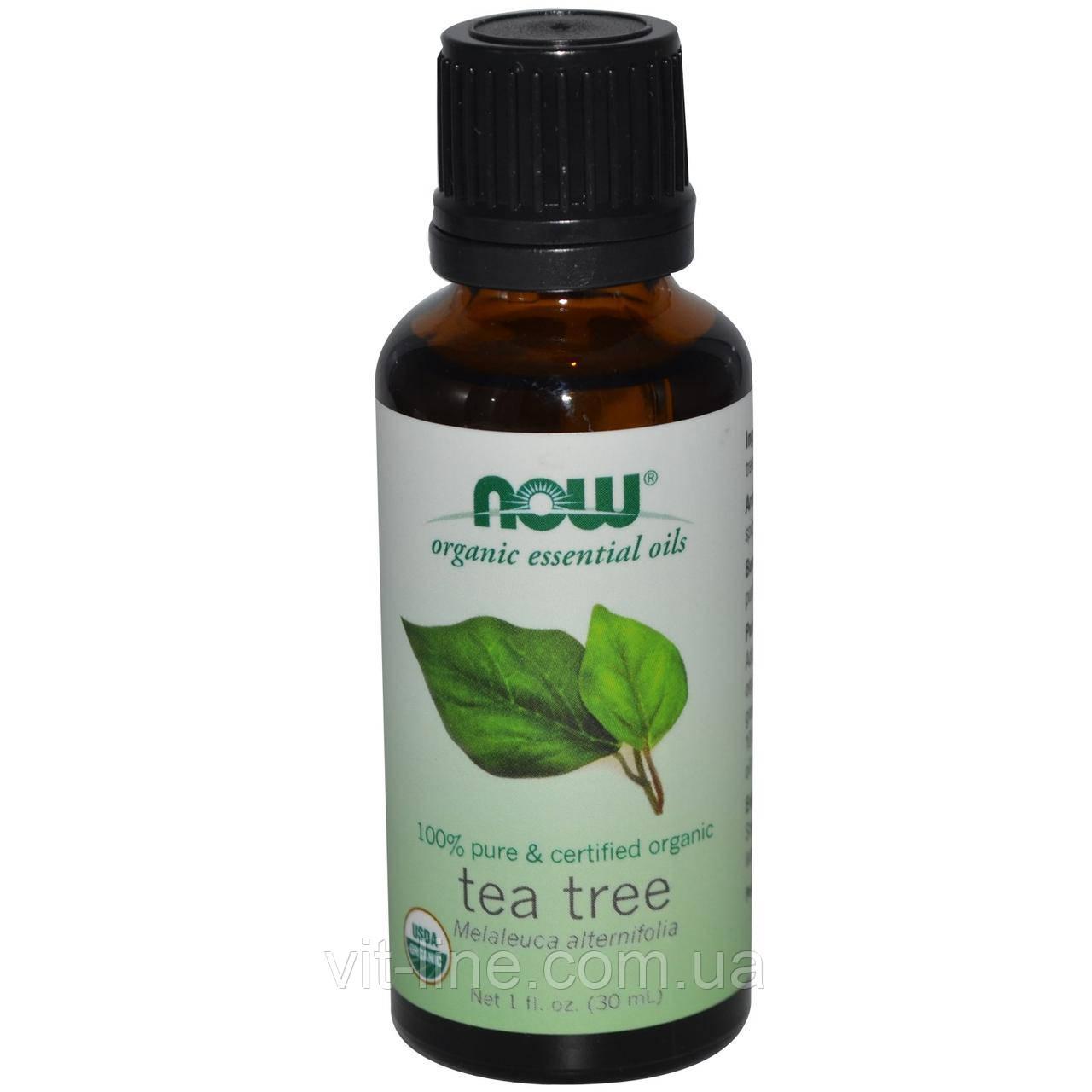 Now Foods, Органическое эфирное масло чайного дерева (30 мл)