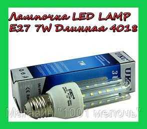Лампочка LED LAMP E27 7W Длинная 4018, фото 2