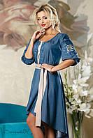 Шикарное летнее платье с вышивкой 783