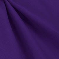 Ткань лен однотонный Баклажановый