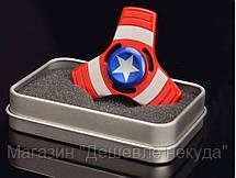 Спиннер Капитан Америка металлический в коробке,игрушка антистресс Fidget Spinner!Опт, фото 2