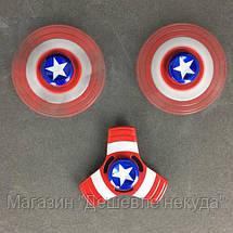 Спиннер Капитан Америка металлический в коробке,игрушка антистресс Fidget Spinner!Опт, фото 3