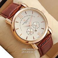 Часы Vacheron Constantin quartz 8611-3 Brown-Gold-White