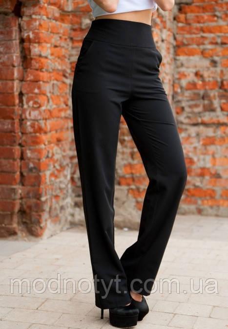 Женские брюки клеш с завышенной талией