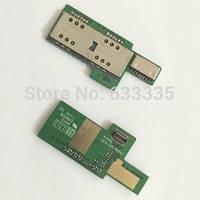 Разъем Sim-карты и карты памяти для Lenovo P780, на плате, на две Sim-карты