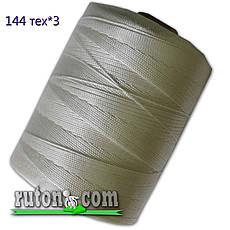 Нить капроновая рыбопосадочная 1.0 мм. - 3150 м. плотность 144 текс в 3 нити, вес 1.5кг рыболовная, фото 3