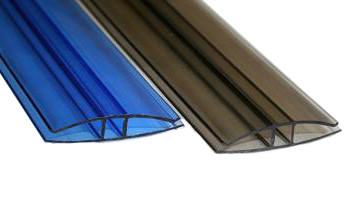 Профиль для поликарбоната Н-образный 4 мм(6м) Цветнойй