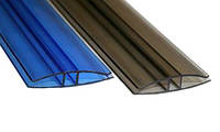 Профиль для поликарбоната Н-образный 10 мм(6м) Цветнойй