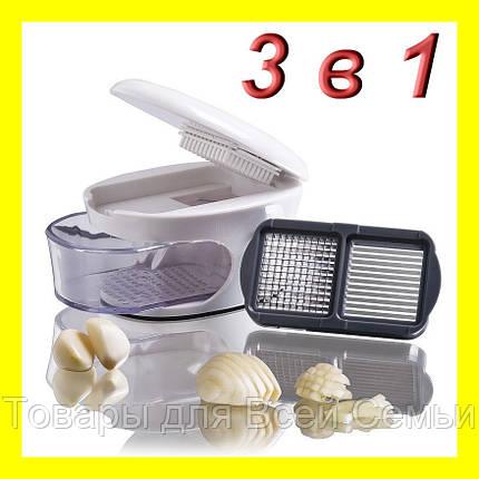 Измельчитель чеснока 3 в 1 Garlic press, фото 2