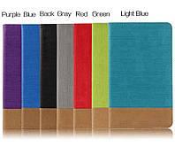 Чехол книжка с кожаными вставками на Xiaomi MiPad 2