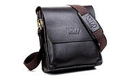Мужская сумка Polo Videng 21*23*7 черный цвет