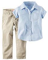 Комплект для девочки брюки и блузка Картерс