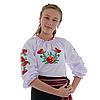 """Сорочка вишиванка """"Макова Роса"""" від 7 до 13 років, фото 2"""