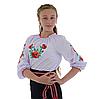 """Сорочка вишиванка """"Макова Роса"""" від 7 до 13 років, фото 3"""