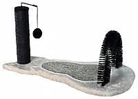 Trixie TX-43164 драпак,щетка,игрушка  Kratzbrett mit Stamm для кота