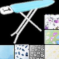 Гладильная доска, металлическая сетка, хлопковый чехол с пористой прокладкой, рисунок в ассортименте