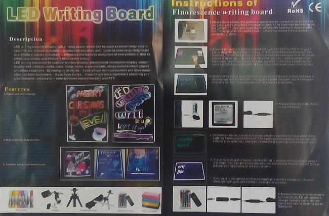 """Неоновая панель LED WRITING BOARD 30*40!Опт - Магазин """"BINZA"""" в Броварах"""