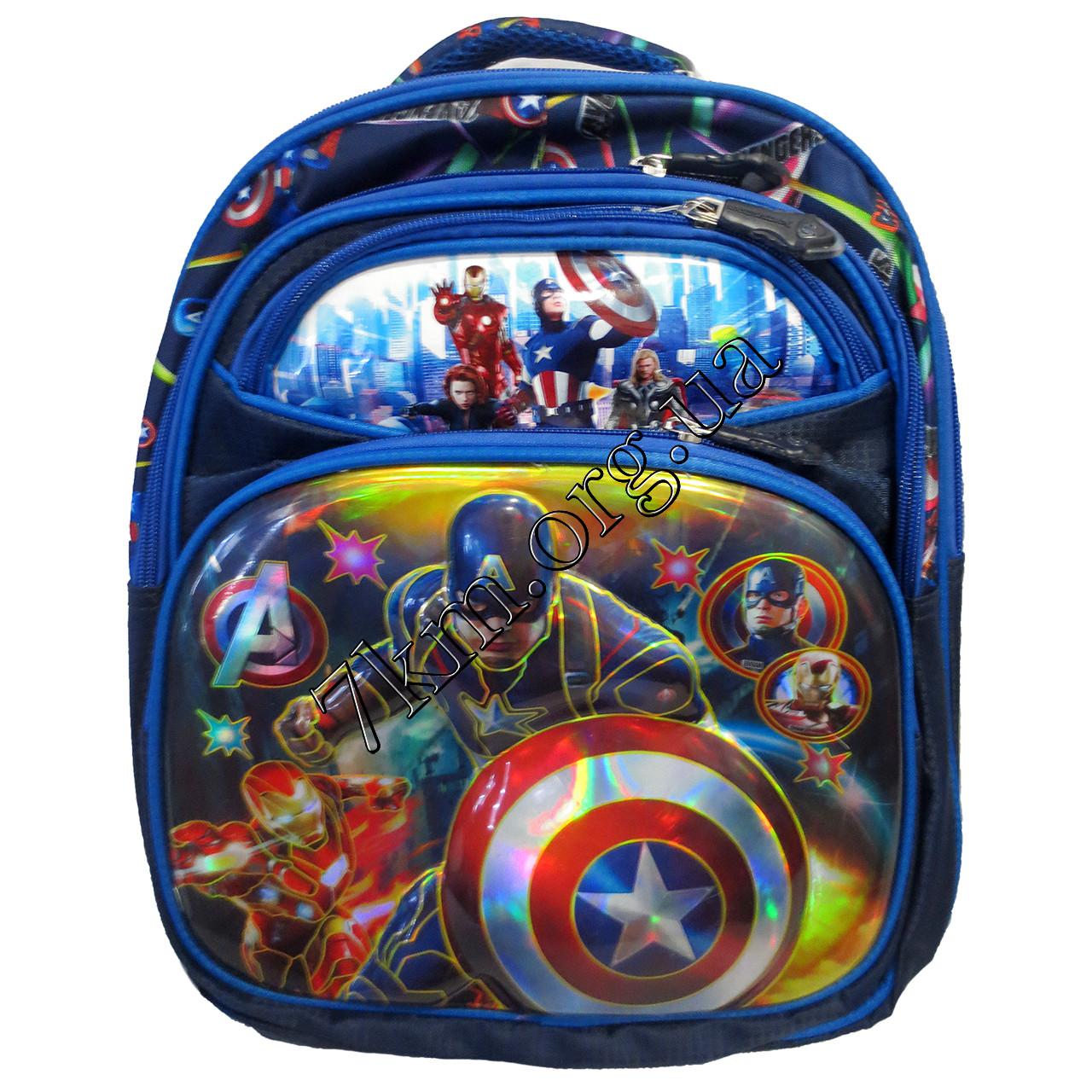 """Рюкзак детский школьный 3D для мальчиков """"Мстители-2"""" 35 ..."""