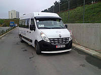 """Козырек лобового стекла """"Белый"""" для Renault Master, Рено Мастер"""