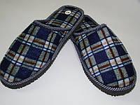 Удобные легкие мужские тапочки для дома (размеры 41-46) код.2010 цвет синий
