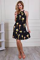 Шелковое платье с интересным принтом