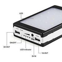Внешний аккумулятор c LED Power bank L5 solar 25000 mAh(цвета в ассортименте)!Опт