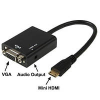 Конвертер с mini HDMI на VGA+AUDIO!Опт
