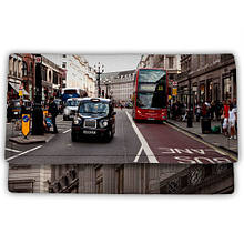 Косметичка на кнопке текстиль Дорога в городе, косметичка большая текстильная