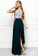 Сногсшибательное Вечернее Платье с Разрезом Изумрудное