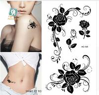 Временная татуировка. Цветы 10.5 x 6 см
