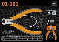 Кусачки торцевые прецизионные 115мм, NEO 01-101