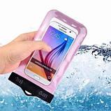 Водонепроницаемый чехол для мобильного телефона 18х10,5 см  (5 цветов), фото 3