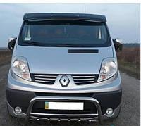 """Козырек лобового стекла """"Черный"""" для Renault Trafic, Рено Трафик"""