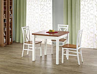 Стол деревянный GRACJAN Halmar (ольха/белый)