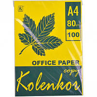 Бумага для ксерокса, А4 100 листов 80г/м² насыщенная LEMON