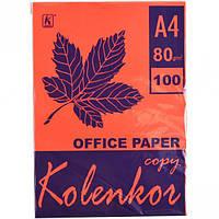 Бумага для ксерокса, А4 100 листов 80г/м² насыщенная RED