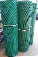 Заборы садовые, сетки пластиковые. Ячейка 20*25 мм, рулон 1*30 м (зеленая, черная)