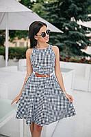 Женское стильное платье с поясом,в расцветках