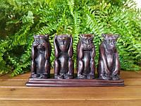 Коллекционная статуэтка Veronese Четыре обезьяны AMO004