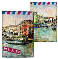 Обложка для паспорта Мосты Венеции, опт от 5 шт, обложка на паспорт фотопринт