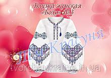 Блузка жіноча під вишивку бісером або нитками в стилі «Бохо» №3