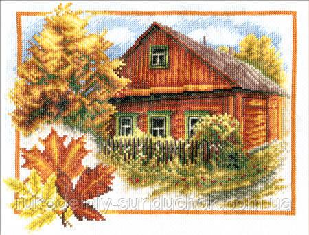 """Набор для вышивки крестом """"Panna"""" Осень в деревне ПС-0314, фото 1"""
